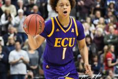 NCAA Women's Basketball AAC Tournament Quarterfinals - #1 UConn 92 vs. 8 ECU 65 (37)