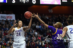 NCAA Women's Basketball AAC Tournament Quarterfinals - #1 UConn 92 vs. 8 ECU 65 (39)