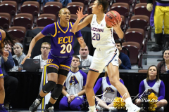 NCAA Women's Basketball AAC Tournament Quarterfinals - #1 UConn 92 vs. 8 ECU 65 (40)