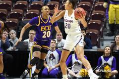 NCAA Women's Basketball AAC Tournament Quarterfinals - #1 UConn 92 vs. 8 ECU 65 (40)