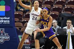 NCAA Women's Basketball AAC Tournament Quarterfinals - #1 UConn 92 vs. 8 ECU 65 (41)