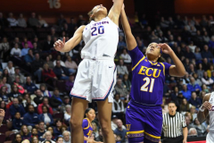 NCAA Women's Basketball AAC Tournament Quarterfinals - #1 UConn 92 vs. 8 ECU 65 (47)