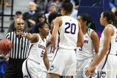 NCAA Women's Basketball AAC Tournament Quarterfinals - #1 UConn 92 vs. 8 ECU 65 (50)