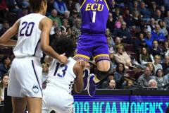 NCAA Women's Basketball AAC Tournament Quarterfinals - #1 UConn 92 vs. 8 ECU 65 (53)