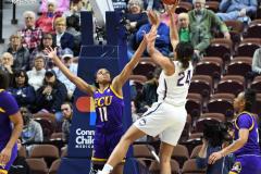 NCAA Women's Basketball AAC Tournament Quarterfinals - #1 UConn 92 vs. 8 ECU 65 (54)