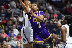 NCAA Women's Basketball AAC Tournament Quarterfinals - #1 UConn 92 vs. 8 ECU 65 (56)