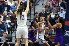 NCAA Women's Basketball AAC Tournament Quarterfinals - #1 UConn 92 vs. 8 ECU 65 (63)