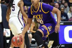 NCAA Women's Basketball AAC Tournament Quarterfinals - #1 UConn 92 vs. 8 ECU 65 (64)