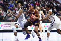 NCAA Women's Basketball AAC Tournament Quarterfinals - #1 UConn 92 vs. 8 ECU 65 (66)