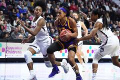 NCAA Women's Basketball AAC Tournament Quarterfinals - #1 UConn 92 vs. 8 ECU 65 (66)
