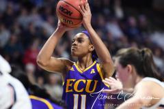 NCAA Women's Basketball AAC Tournament Quarterfinals - #1 UConn 92 vs. 8 ECU 65 (67)