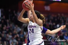NCAA Women's Basketball AAC Tournament Quarterfinals - #1 UConn 92 vs. 8 ECU 65 (68)