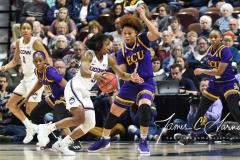 NCAA Women's Basketball AAC Tournament Quarterfinals - #1 UConn 92 vs. 8 ECU 65 (71)