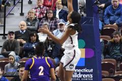 NCAA Women's Basketball AAC Tournament Quarterfinals - #1 UConn 92 vs. 8 ECU 65 (72)