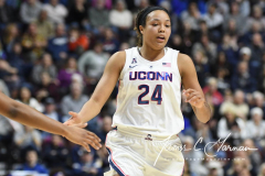 NCAA Women's Basketball AAC Tournament Quarterfinals - #1 UConn 92 vs. 8 ECU 65 (75)