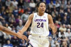 NCAA Women's Basketball AAC Tournament Quarterfinals - #1 UConn 92 vs. 8 ECU 65 (75)