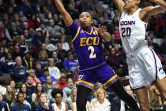 NCAA Women's Basketball AAC Tournament Quarterfinals - #1 UConn 92 vs. 8 ECU 65 (77)