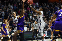 NCAA Women's Basketball AAC Tournament Quarterfinals - #1 UConn 92 vs. 8 ECU 65 (83)