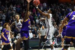 NCAA Women's Basketball AAC Tournament Quarterfinals - #1 UConn 92 vs. 8 ECU 65 (83)