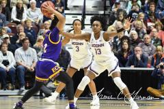NCAA Women's Basketball AAC Tournament Quarterfinals - #1 UConn 92 vs. 8 ECU 65 (84)
