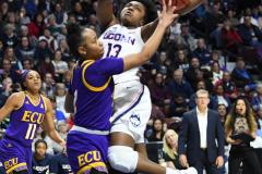 NCAA Women's Basketball AAC Tournament Quarterfinals - #1 UConn 92 vs. 8 ECU 65 (88)
