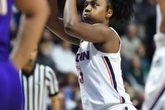 NCAA Women's Basketball AAC Tournament Quarterfinals - #1 UConn 92 vs. 8 ECU 65 (89)