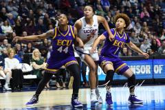 NCAA Women's Basketball AAC Tournament Quarterfinals - #1 UConn 92 vs. 8 ECU 65 (90)
