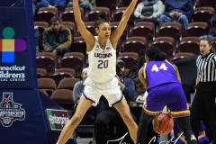 NCAA Women's Basketball AAC Tournament Quarterfinals - #1 UConn 92 vs. 8 ECU 65 (94)
