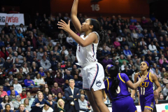 NCAA Women's Basketball AAC Tournament Quarterfinals - #1 UConn 92 vs. 8 ECU 65 (97)