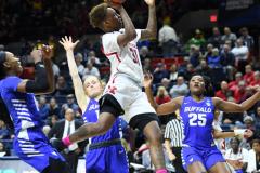NCAA Women's Basketball 1st Round - #7 Rutgers 71 vs. #10 Buffalo 82 (52)