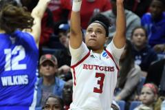 NCAA Women's Basketball 1st Round - #7 Rutgers 71 vs. #10 Buffalo 82 (77)