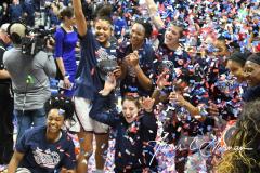 NCAA Women's Basketball AAC Championship - #1 UConn 66 vs. #2 UCF 45 (109)