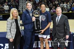 NCAA Women's Basketball AAC Championship - #1 UConn 66 vs. #2 UCF 45 (112)