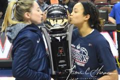 NCAA Women's Basketball AAC Championship - #1 UConn 66 vs. #2 UCF 45 (115)