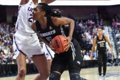 NCAA Women's Basketball AAC Championship - #1 UConn 66 vs. #2 UCF 45 (80)