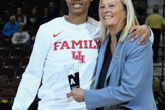 NCAA Women's Basketball AAC Quarterfinals - #4 Houston 55 vs. #5 USF 72 (12)