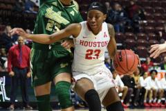 NCAA Women's Basketball AAC Quarterfinals - #4 Houston 55 vs. #5 USF 72 (17)