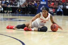 NCAA Women's Basketball AAC Quarterfinals - #4 Houston 55 vs. #5 USF 72 (45)