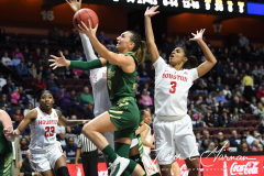 NCAA Women's Basketball AAC Quarterfinals - #4 Houston 55 vs. #5 USF 72 (89)