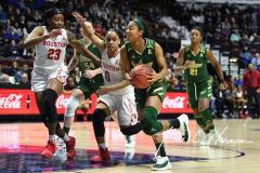 NCAA Women's Basketball AAC Quarterfinals - #4 Houston 55 vs. #5 USF 72 (94)