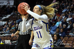 NCAA Women's Basketball AAC Tournament 1st Round - #7 Tulsa 61 vs. #10 Wichita State 50 (58)
