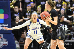 NCAA Women's Basketball AAC Tournament 1st Round - #7 Tulsa 61 vs. #10 Wichita State 50 (65)
