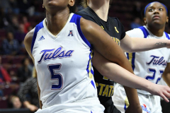 NCAA Women's Basketball AAC Tournament 1st Round - #7 Tulsa 61 vs. #10 Wichita State 50 (70)