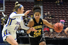 NCAA Women's Basketball AAC Tournament 1st Round - #7 Tulsa 61 vs. #10 Wichita State 50 (81)