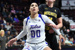 NCAA Women's Basketball AAC Tournament 1st Round - #7 Tulsa 61 vs. #10 Wichita State 50 (87)