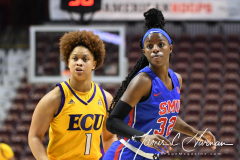NCAA Women's Basketball AAC Tournament 1st Round #8 ECU 50 vs. #9 SMU 48 (13)