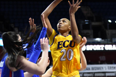 NCAA Women's Basketball AAC Tournament 1st Round #8 ECU 50 vs. #9 SMU 48 (15)