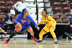 NCAA Women's Basketball AAC Tournament 1st Round #8 ECU 50 vs. #9 SMU 48 (18)