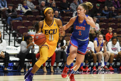 NCAA Women's Basketball AAC Tournament 1st Round #8 ECU 50 vs. #9 SMU 48 (29)