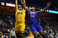 NCAA Women's Basketball AAC Tournament 1st Round #8 ECU 50 vs. #9 SMU 48 (42)